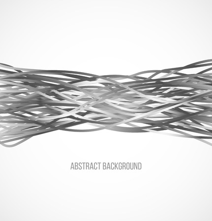 Absract gray background with horizontal lines. Vector illustration Vectores
