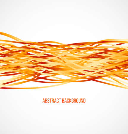 Absract orange background with horizontal lines. Vector illustration
