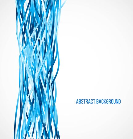 Absract blue background with vertical lines. Vector illustration Vectores