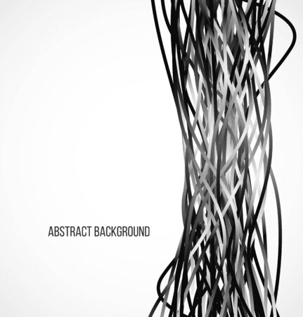 Absract black background with vertical lines. Vector illustration