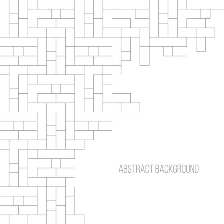 Abstract gray striped geometric background brick wall. Vector illustration Vectores
