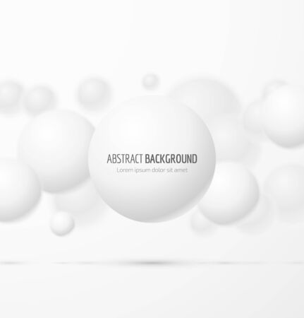 Abstract white realistic sphere background. Vector illustration Vectores