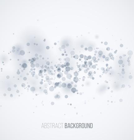 Blue circle sparkles on white blur background. illustration