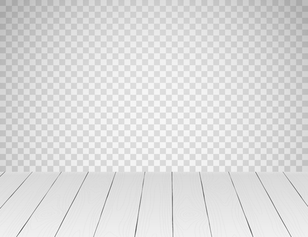 White realistic wooden table top or floor Vectores
