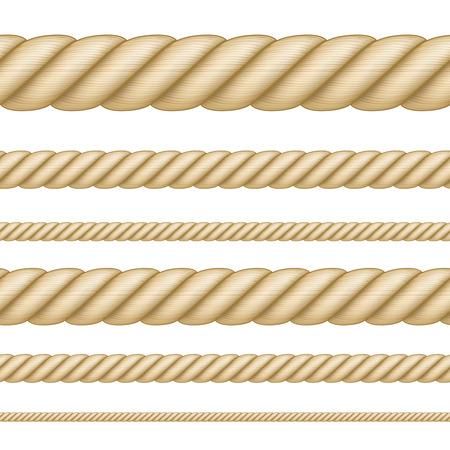 Conjunto de cuerdas sin costura de diferente grosor. Foto de archivo - 100397799
