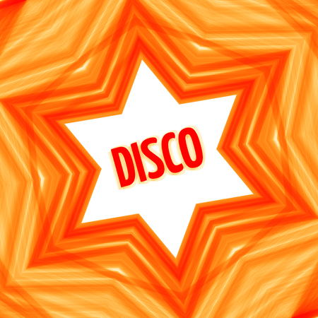 Red disco star background Vectores