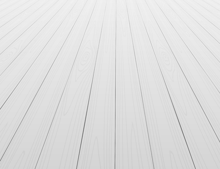 White wooden floor background in perspective Vectores