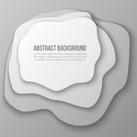 Abstract background with white paper cut layered