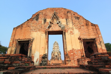 Wat Rajaburana Ayutthaya, Thailand. photo