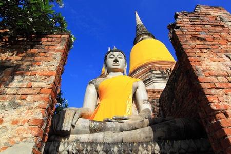 Wat yai chaimongkhon, Ayutthaya,Thailand. Stock Photo