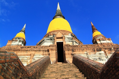 Phra Chedi Chaimongkol, Ayutthaya,Thailand. Stock Photo