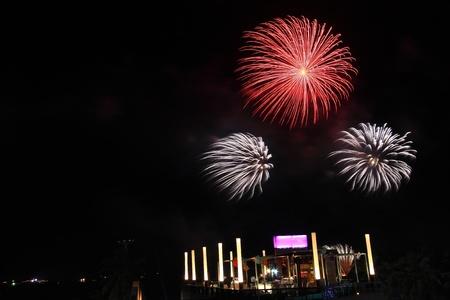happening: Firework festival Stock Photo
