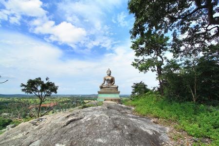 Buddha statue on the hill