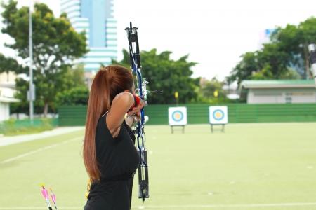 archery: Woman archery