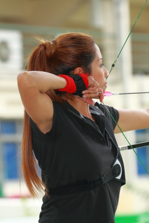 active arrow: Woman archery