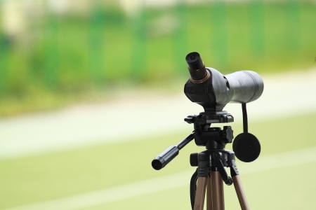 Camera using an unfeasibly long lens photo