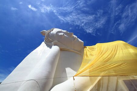 Reclining Buddha status Stock Photo