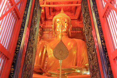 The buddha of wat phananchoeng worawihan, Thailand photo