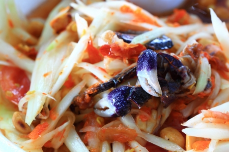 Papaya salad with salted crab Stock Photo - 17500224