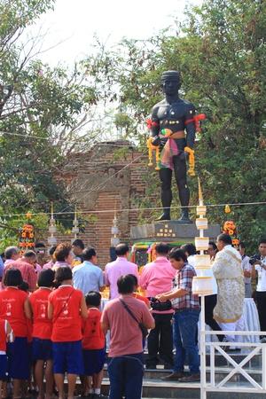 AYUTTHAYA - MARCH 17: The 9th World Thai Martial Arts Festival and Wai Khru Muay Thai Ceremony at Wat Mahathat Phra Nakhon Si Ayutthaya Historical Park on March 17, 2013 in Phra Nakhon Si Ayutthaya, Thailand.