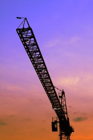 The construction crane Stock Photo