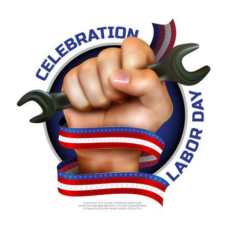 Tarjeta de felicitación del día de feliz día o diseño de la bandera Foto de archivo - 84938241