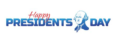 Vector label, logo or banner to Happy Presidents Day - National american holiday. Illustration