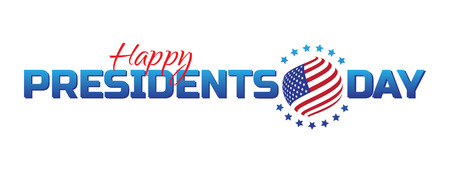 Vector label, logo or banner to Happy Presidents Day - National american holiday. Vector illustration isolated on white background. Perfect to use for advertising design and other creative projects