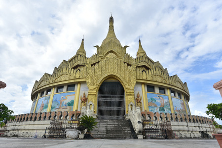 Golden pagoda famous places land mark in Mong La Myanmars Sin City shan state myanmar. Nearly china ishuangbanna, Sibsongbanna,Sipsong Panna Stock Photo