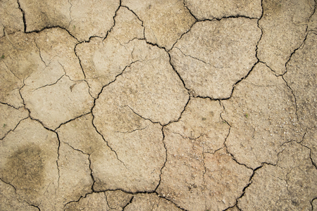 Dry land background.cracked ground.cracked soil or mud pattern.drought problem from nature warming disaster. Imagens