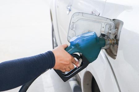 Gas station. Fuel pump.Colorful petrol pump filling nozzles.