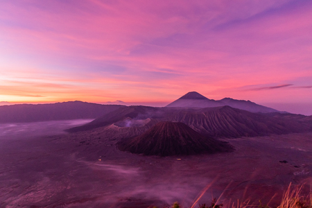 Mount Bromo an active volcano one of the most tourist attractions in East Java, Indonesia.The volcano belongs to the Bromo Tengger Semeru National Park.