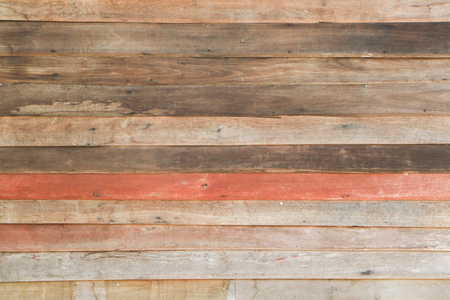 Old Wood Texture background of decorarive wood striped on wall.brown plank texture with nail hole Reklamní fotografie