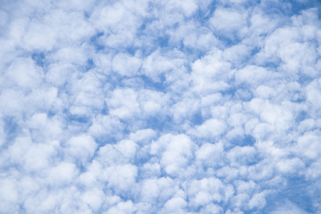 Beautiful clouds with blue sky background. Nature weather.cloud is water vapour in the atmosphere that has condensed into very small water droplets or ice crystals that appear in visible shapes