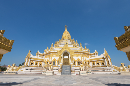"The Swe Taw Myat paya or ""Buddha tooth relic pagoda"" is one of Yangon's recent places of worship.  located on a small hill named Dhammapala in Mayangone township, just South of Yangon airport"