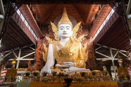 Ngahtatgyi Buddha Temple is a Buddhist temple in Bahan Township, Yangon, Myanmar.The Nga Htat Gyi pagoda in Yangon is known for its enormous seated image of the Buddha donated by Prince Minyedeippa Éditoriale