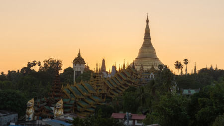 The Shwedagon Pagoda one of the most famous pagodas in the world the main attraction of Yangon. Myanmar's capital city. Shwedagon referred in Myanmar as The crown of Burma Redactioneel
