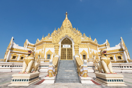 "The Swe Taw Myat paya or ""Buddha tooth relic pagoda� is one of Yangon's recent places of worship.  located on a small hill named Dhammapala in Mayangone township, just South of Yangon airport"