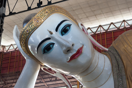 Chauk htat gyi reclining buddha images at Chaukhtatgyi buddha temple in Bahan Township,Yangon is the most revered reclining Buddha images in Myanmar.