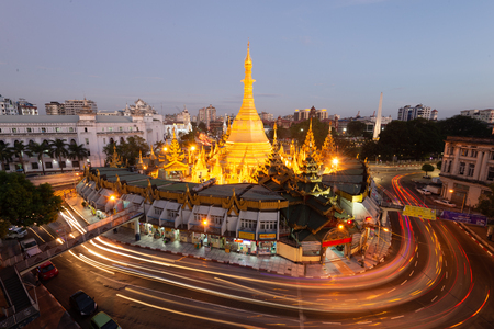 The Sule Pagoda is a Burmese stupa located in the heart of downtown Yangon.Another name in Burmese as the Kyaik Athok Zedi, is surrounded by busy streets
