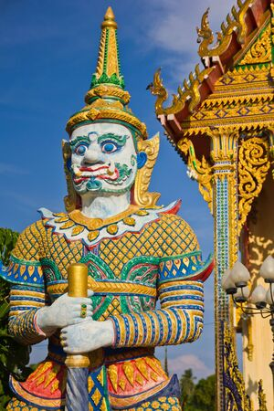 A colorful legend giant statue in the temple Stock Photo - 13813962