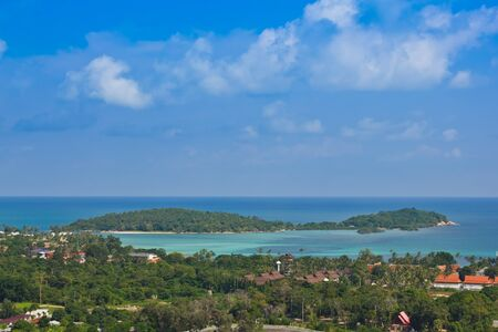 View of small island at chaweng beach in koh samui Stock Photo - 13873243