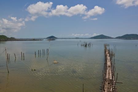 yo: Small pier on a sea at koh yo, thailand