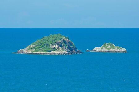 small island on the ocean photo