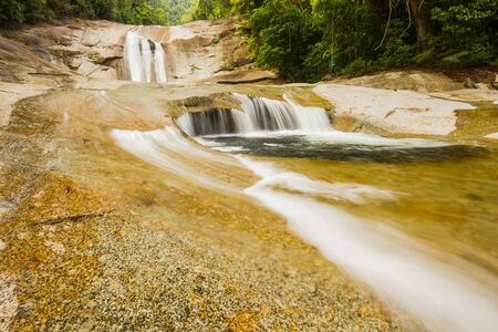 Phromlok Waterfall at khao luang National Park, Southern Thailand Stock Photo - 15823377