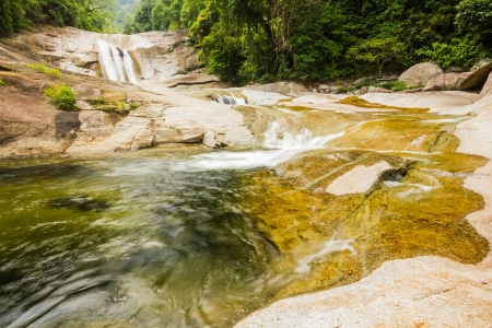 Phromlok Waterfall at khao luang National Park, Southern Thailand Stock Photo - 15823386