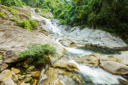 Ai Khiao Waterfall at khao luang National Park, Southern Thailand photo