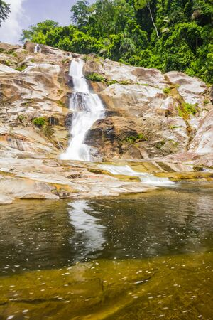 Karome Waterfall at khao luang National Park, Southern Thailand photo