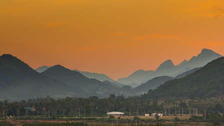 landscape of the valleys after sunset Stock Photo - 16798285