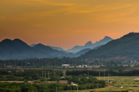 landscape of the valleys after sunset Stock Photo - 16798288